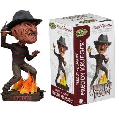 Bobble-head Freddy vs. Jason Freddy Krueger Head Knocker 18 cm Neca