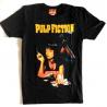 T-shirt Pulp Fiction Poster Mia Smoking Stance