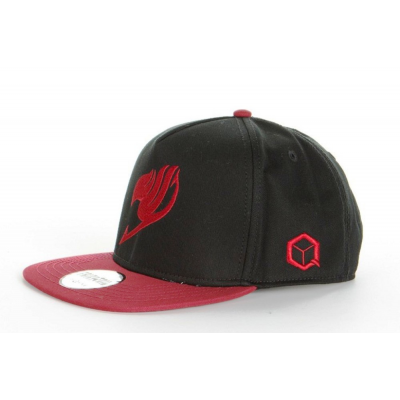 Cappello Fairy Tail - Natsu Black/Burgundy Snapback Cap Hat Animus