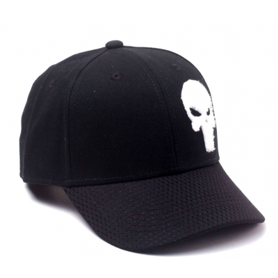 Cappello Marvel Comics The Punisher Varsity Cap Skull logo Snapback Cap Bioworld