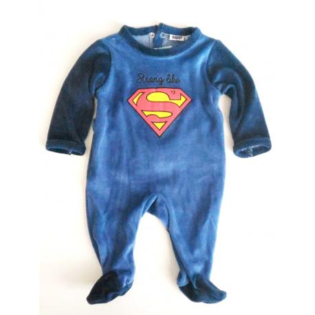 Baby Pyjamas bimbo Superman Shield onesie
