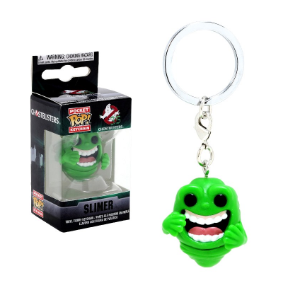 Portachiavi Ghostbusters Slimer Pocket Pop! Vinyl KeyChain Funko