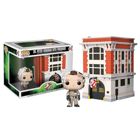 Ghostbusters - Dr. Peter Venkman with Firehouse Pop! Town Vinyl Figure