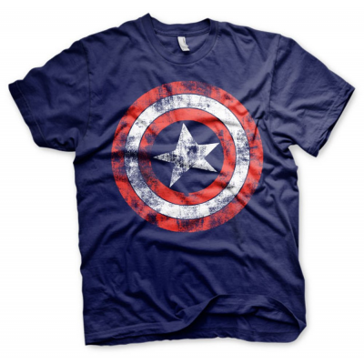 T-shirt Marvel Comics - Captain America Distressed Shield maglia Uomo Hybris