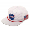 Cappello NASA Patch 5 Panel logo + USA flag Slouch Snapback Cap Hat Bioworld