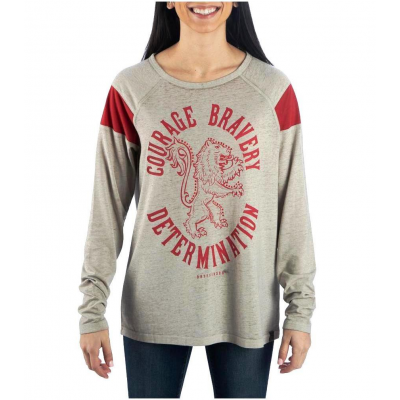 T-Shirt Harry Potter Gryffindor Characteristic Long Sleeve maglia Donna Bioworld