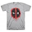T-shirt Deadpool Splash icon face maglia Uomo ufficiale Marvel