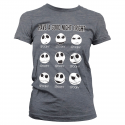 T-shirt The Nightmare Before Christmas Have a Good Night Fright Girly Tee Donna