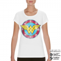 T-shirt Wonder Woman Distressed DC Logo Performance Girly Tee Donna Ufficiale