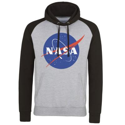 Felpa con cappuccio NASA Insignia Logotype Baseball Hoodie