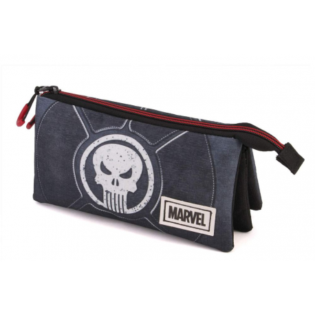 Astuccio Marvel The Punisher Triple Compartment Pencil Case