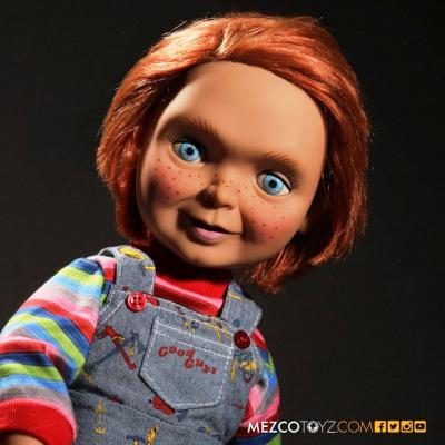 Action figure parlante Chucky Bambola Assassina Child/'s Play talking 40 cm Mezco