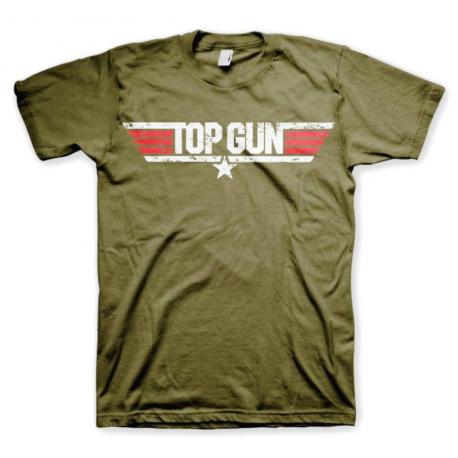 T-shirt Top Gun Distressed Logo