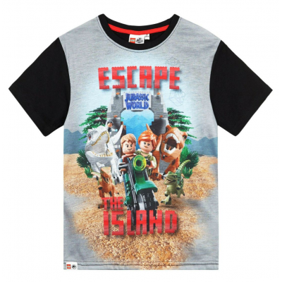 T-shirt Lego Jurassic World Escape the Island maglia Kids Bambino