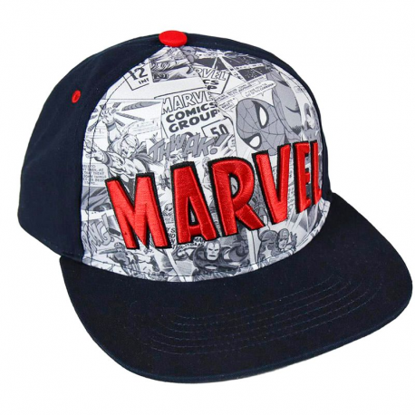 Cappello Marvel Comics superheroes red logo Deluxe Snapback Cap