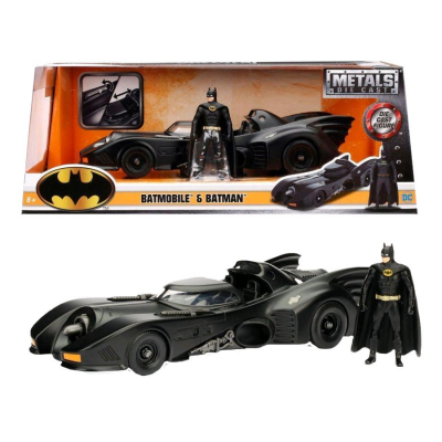 Modellino Batmobile & Batman 1989 Metals Die cast Replica 1:24 scale Jada