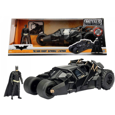 Modellino Batmobile & Batman Dark Knight 2008 Metals Die cast