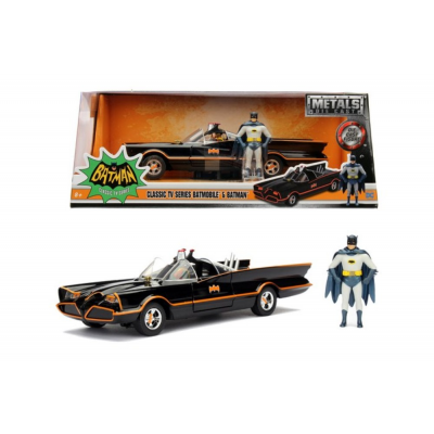Modellino Batmobile & Batman classi tv 1966 Metals Die cast Replica