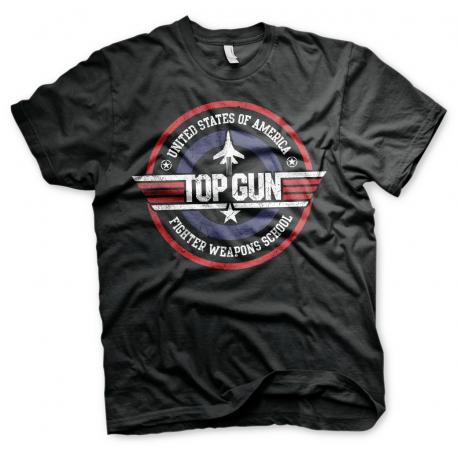 T-shirt Top Gun Distressed Logo maglia Uomo ufficiale by Hybris