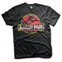 T-shirt Jurassic Park Distressed T-Rex Logo maglia Uomo ufficiale by Hybris