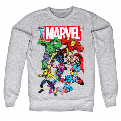 Felpa Marvel Comics Team-Up Heroes supereroi Sweatshirt