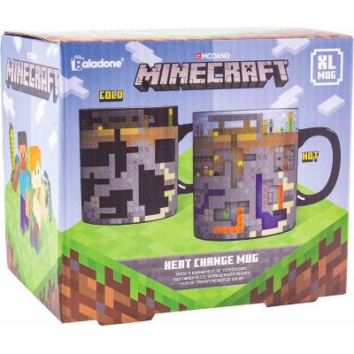 Tazza termosensibile Minecraft Heat Change Mug XL 550 ml ufficiale Paladone