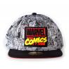 Cappello Marvel Comics logo black/grey snapback Cap Difuzed