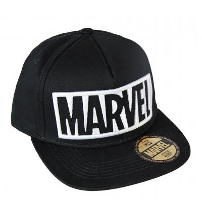 Cappello Marvel white Logo black snapback Cap Cerdà