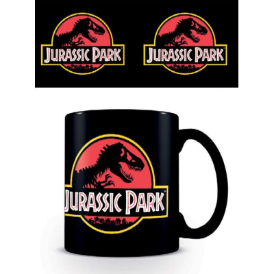 Tazza Jurassic Park Classic logo black coffee mug Pyramid
