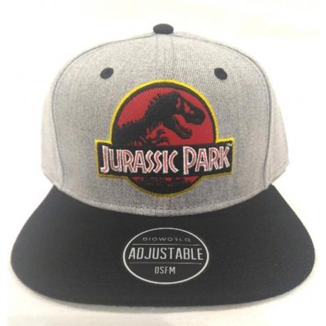 Cappello Jurassic Park Logo Grey/Black Snapback Cap Bioworld