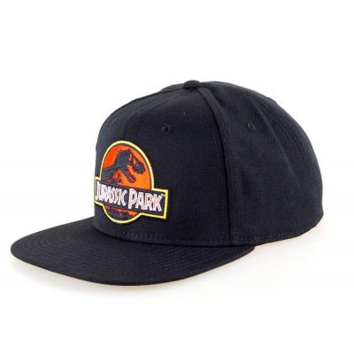 Cappello Jurassic Park classic Logo Black Snapback Cap Bioworld
