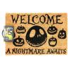 Zerbino Nightmare Before Christmas - A Nightmare Awaits Door Mat Pyramid