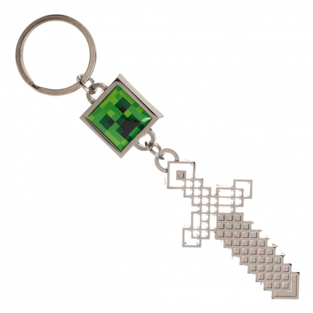 Portachiavi Minecraft - Creeper & Sword Keychain Bioworld