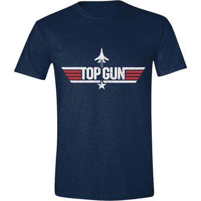T-shirt Top Gun Distressed Logo maglia Blu Navy Uomo ufficiale