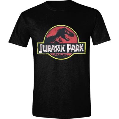 T-shirt Jurassic Park Distressed T-Rex classic Logo maglia Uomo