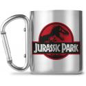 Tazza in acciaio con moschettone Jurassic Park Logo Carabiner Mug 225 ml GB eye