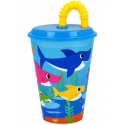 Bicchiere con cannuccia e coperchio Baby Shark Tumbler 430ml by pinkfong