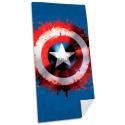 Telo mare asciugamano Marvel Captain America Shield cotton beach towel 75x150cm