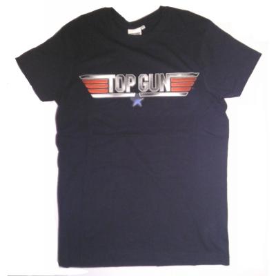 T-shirt Top Gun Logo maglia Blu Navy Uomo ufficiale Comic Studio
