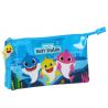 Astuccio Baby Shark 2 cerniere 3 scompartimenti triple pencil case Safta