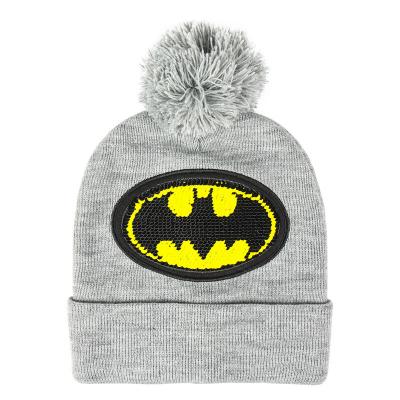Berretta Batman Paillettes logo Pom Beanie Winter Hat DC Comics Cerdà