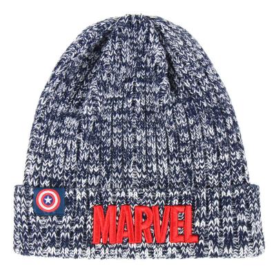 Berretta Marvel embroidered logo Captain America Beanie Winter Hat Cerdà