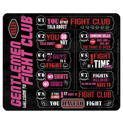 Mouse Pad Fight Club Rules 23x20 cm ABYstyle