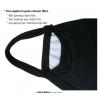 Mascherina Halloween V per Vendetta Unity mouth reusable mask 3 layers