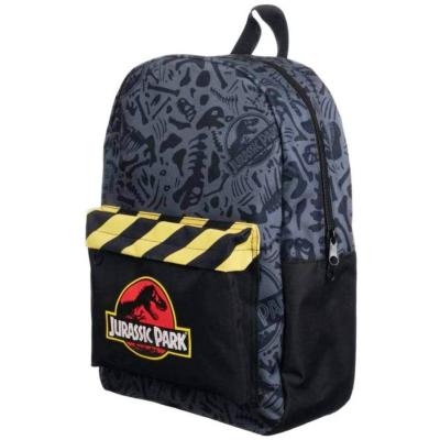 Zaino Jurassic Park Logo caution tape adaptable Backpack 43 cm Bioworld
