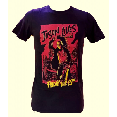 T-shirt Friday the 13th Jason Lives Axe Chop maglia Uomo ufficiale
