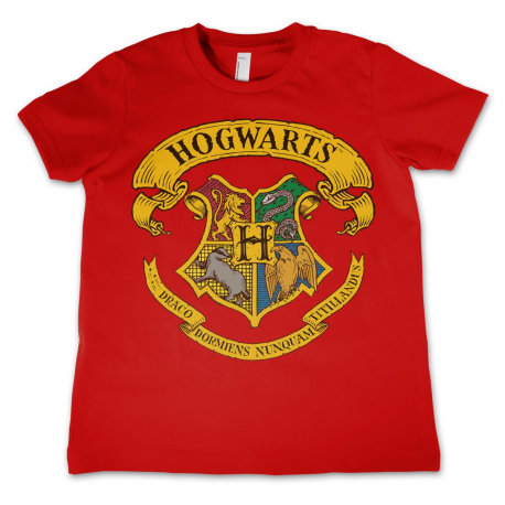 T-shirt Harry Potter - Hogwarts Crest Kids maglia Red Bambino by Hybris