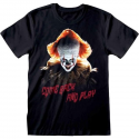 T-shirt Stephen King IT Pennywise Come back and play maglia Uomo ufficiale