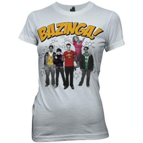 T-shirt Big Bang Theory Bazinga group maglia donna ufficiale