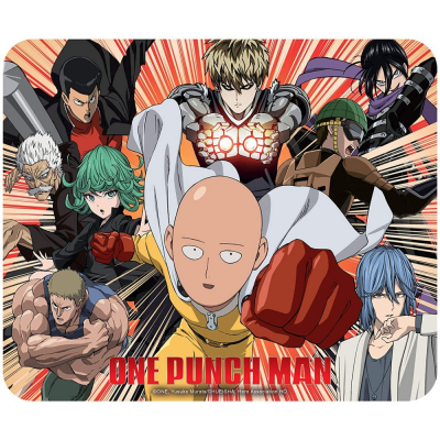 Mouse Pad One Punch Man heroes Flexible mousepad 23x20 cm ABYstyle